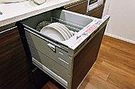 機能的なビルトインタイプ。簡単操作で、食器もコップも一気に洗い上げます。