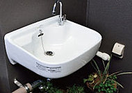 バルコニーには、花の水やりなどに便利なスロップシンクを標準装備しています。(防水コンセント付き)