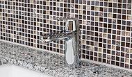 洗面化粧台にはグローエ社製の水量や湯温の調節がしやすいシングルレバー混合水栓を採用。※モザイクタイルはオプション仕様です。