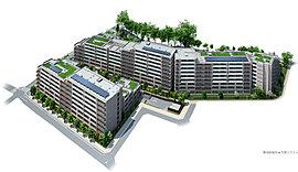 総敷地面積15,000m2超、敷地の約半分が空地。広大かつ開放的な空間に計画された多彩な施設。