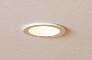 LEDダウンライトを採用。長寿命・省エネ仕様で、環境と家計にも配慮しています。