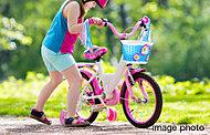 三輪車、子供用自転車専用の駐輪スペースを設置しました。