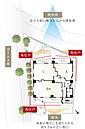 品川方向に向けて開けた立地に建つ「ザ・パークハウス 大井町ゼームス坂」。その開放感を活かす、約7.5m~約15.4mのワイドな間口を設けました。