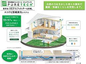 (3)ピュアテックーエコナビ搭載換気システムHEPA+ー