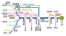 【パナホーム】ウェルネスシティつくば桜:交通図
