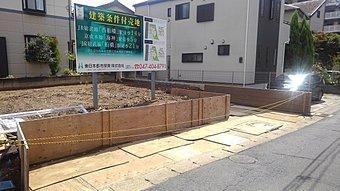 現地写真(9月、ブロック積み直し、フェンス取り付け完了)