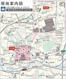 グリーンTOWN鴨居・池辺(建築条件付):案内図