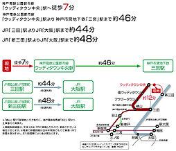 P-CON 三田 ゆりのき台4丁目:交通図