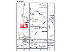 北本市東間3丁目 売地:交通図