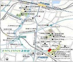 【なかやしき】BONJONO(ボン・ジョーノ)建築条件付宅地:交通図