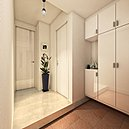 玄関とWC床にスタイリッシュなデザインとスマートな機能を兼ね備えた、傷や汚れに強い美しい鏡面仕上げの石目タイルを使用。(10号棟玄関完成予想図※図面を基に描き起こしたもので実際とは多少異なります)