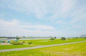 淀川河川公園まで200m 徒歩3分。