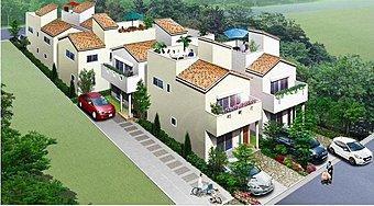 全戸2階建+スカイバルコニー+駐車2台の全6区画タウン!