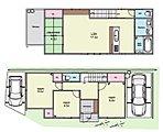 【3号地プラン例-1】 車2台駐車可能な間取りです! 3387万円で建築が可能♪(土地価格 1980万円・建物価格 1407万円) 各スペースにしっかり収納を備えた住まいです。