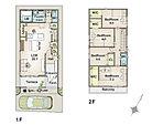 建物プラン例(39号地サンプルプラン)4LDK、土地価格3660万円、土地面積100.18m2、建物価格1728万円、建物面積110.56m2