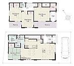 ■全棟30坪のゆとりある敷地。自然美溢れる空間に、思い描いた理想の住空間を創造します。 現地見学会スタート!お問い合わせください【3号棟間取り】