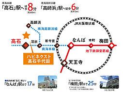 ハピネクスト高石千代田:交通図