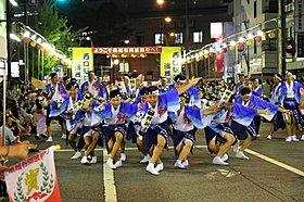 地元への恩返しとして、毎年8月に南越谷阿波踊りを開催。
