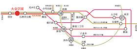 【路線図】西武池袋線「大泉学園」駅徒歩10分。