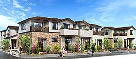 全邸115m2以上の開放的な12邸の街並み。