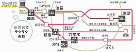 【路線図】都営大江戸線・始発駅「光が丘」駅利用。