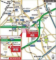 アローラタウン堺西:交通図