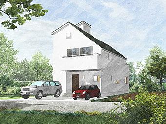 [完成イメージ図] 良質な空気に包まれた「きれいな空気の家」。違いは、家の香りからもすぐに感じていただけます。更に耐震・制振構造。安心・健康・快適に暮らしてみませんか。