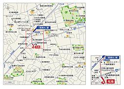 【セキスイハイム】船橋・薬園台 条件付宅地:案内図