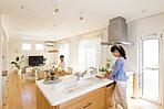 A14号地モデルハウス。キッチンはワークスペースを広くとれるような設計
