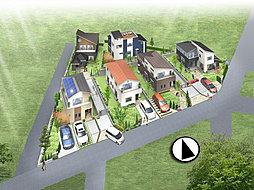 敷地42坪以上 JR総武線「東船橋」駅徒歩13分 南口の住宅地エリアに全6区画の新しい街並み