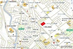 【豊栄建設の分譲地】清田区平岡1条4丁目二期(土地):交通図