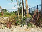 建物とコーディネートされた外構・植栽は、雑貨屋さんとのコラボレーションです (No.9)