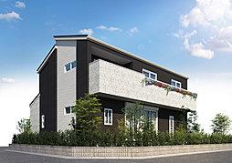 茨城グランディハウス よつばの杜 つくば研究学園 遊歩道で登校。学園の森義務教育学校へ徒歩4分の外観