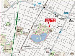 セレブコート帝塚山・万代:案内図