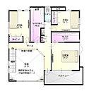【2F間取り図】 各部屋の収納はもちろん、プラスアルファでファミリークローゼットも!