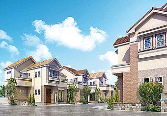 久宝寺緑地すぐのドリームハウス大蓮南2丁目。近鉄大阪線「弥刀」駅から徒歩15分の便利な立地。全邸80m2を超える長期優良住宅標準の分譲地です。