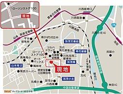 新規分譲  オーセンテックパール・ステージ宝塚東III(全4区画):案内図