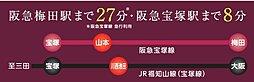 ヴェルテューサ宝塚東II(全7区画)  注文建築:交通図