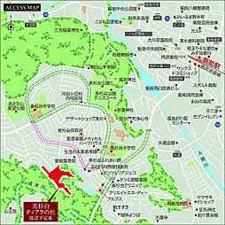 土地60坪平均全71区画の美杉台ティアラの杜(飯能市美杉台):交通図