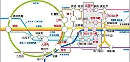 「 妙典駅 徒歩10分の売地 」:交通図