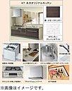 【キッチン】食洗機・浄水栓付きです。キッチンカウンターは耐久性に優れた人工大理石を使用。壁面のキッチンパネルもお手入れはさっと人拭きだけ!硬く・傷に強く、熱や湿気にも強いので安心です。