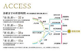 始発駅「浦和美園」駅から都心へ快適アクセス。