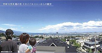 眺望付分譲地 「マキ'ハウス大津鶴の里」 造成工事完了。