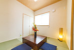 モデルハウス和室 ご両親が来られた時の安心して寛いでいただける大事なスペース。