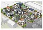 【街並み完成イメージ】稲毛の中心エリアの閑静な住宅地内に全14邸の街並みが誕生いたします。