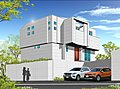 デザインハウス鶴見馬場 敷地面積55坪 カースペース2台
