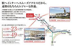 コモンライフ本庄見福III【建築条件付土地】:交通図