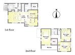 15号棟 間取り図 玄関横には土間収納を配置。ベビーカーや趣味の道具の収納スペースにも。