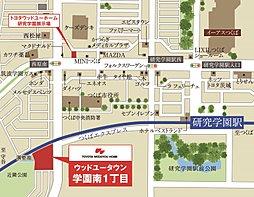 トヨタウッドユーホーム学園南1丁目~研究学園駅まで徒歩11分・いよいよラスト1区画~:交通図