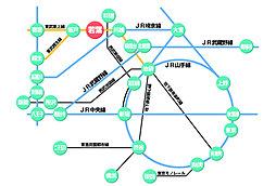【BREEZE GARDEN 坂戸市関間4丁目VII】~土地分譲開始~:交通図